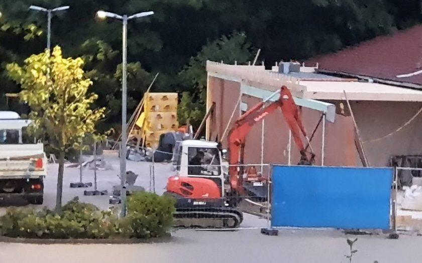 Bauarbeiten am Strundorfer Lidl